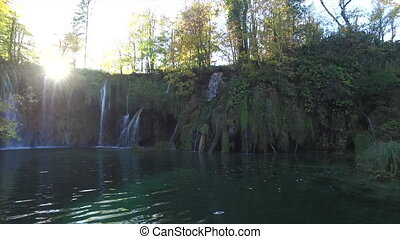 plitvice, national, park., croatie, lacs