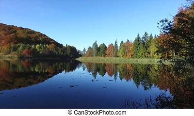 plitvice, national, park., croatie, lacs
