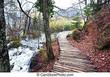 plitvice, nationalpark, seen