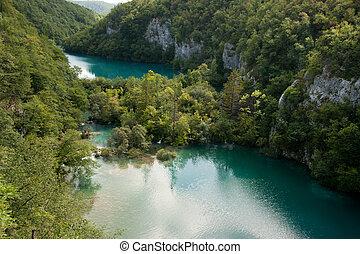 plitvice, nemzeti park, tavak