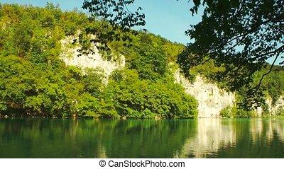 plitvice, parc, national, croatie, lac