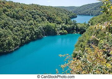 plitvice, seen, nationalpark, in, kroatien