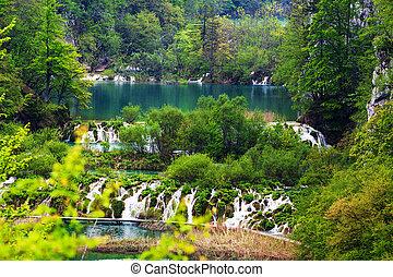 plitvice, seen, nationalpark, kroatien