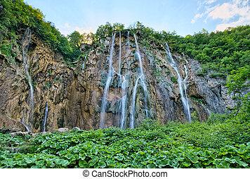 plitvice, tavak, vízesés, horvátország