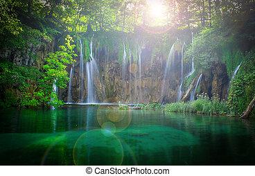 plitvice, vodopády