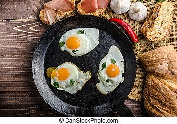 plný, protein, snídaně