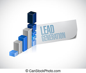 plomb, business, génération, graphique, illustration, conception