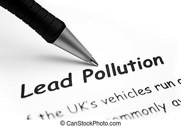 plomo, contaminación