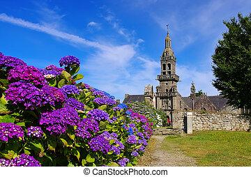 Plomodiern Sainte-Marie du Menez Hom in Brittany, France