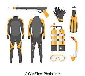 plongée, equipment., masque