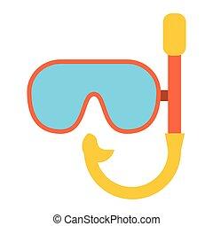 plongée, symbole, masque, équipement