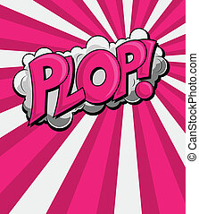 plop, texte, -, vecteur, comique, expression