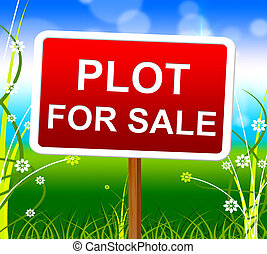 Plot For Sale Represents Real Estate Agent And Lands - Plot...