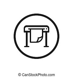 Plotter icon on a white background