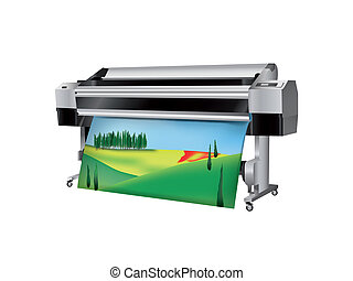 Plotter with Tuscan Landscape printed