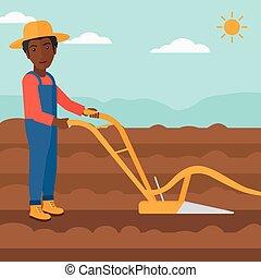 plough., mező, farmer