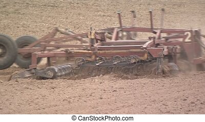 Plow the field. Agriculture. Agricultural machinery is...