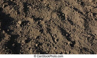 Plowed fertile soil ready for planting crops.