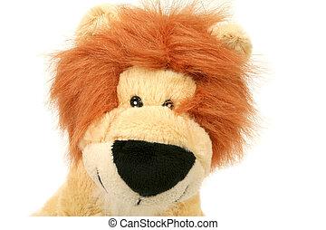 pluche, leeuw, koning