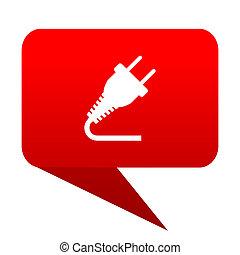 plug bubble red icon