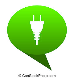 plug green bubble icon