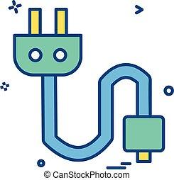 Plug icon design vector