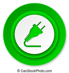 plug icon, electricity sign
