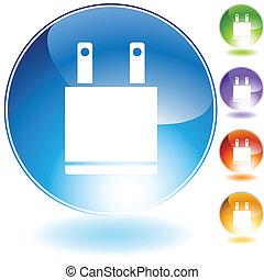 Plug Icon isolated on a white background.