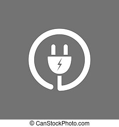 Plug icon on a dark background