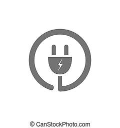 Plug icon on a white background