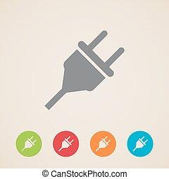 plug ikoon, elektrisch