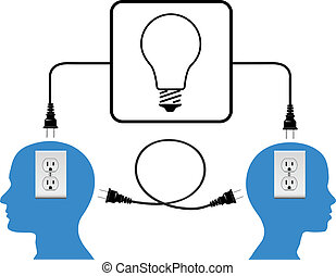 Plug in people join in loop light connection - People into ...