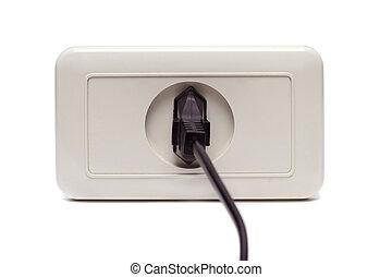 Plug in the socket