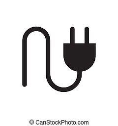 Plug in vector icon for graphic design, logo, web site, social media, mobile app, ui