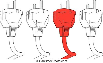 plug in vector illustration