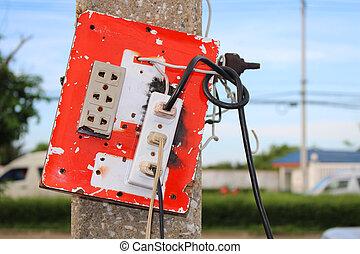 Plug of electric