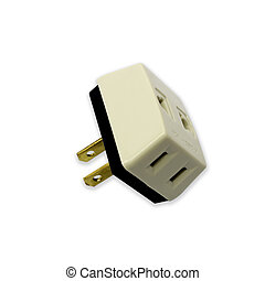 Plug on a white background.