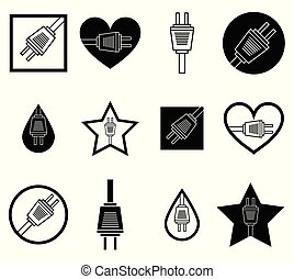 Plug Shape Icons
