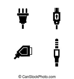 Plug. Simple Related Vector Icons Set for Video, Mobile...