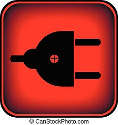 Plug symbol button