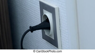 Plugging Different Power Plugs Into Wall Outlet - Plugging...