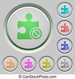 Plugin disabled push buttons