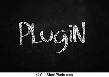 Plugin Lettering, written with Chalk on Blackboard