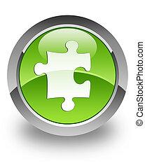 Plugin / Puzzle glossy icon - plugin / puzzle icon on glossy...