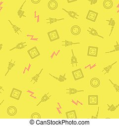 Plugs Seamless Pattern