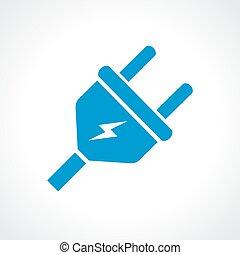plugue, elétrico, ícone