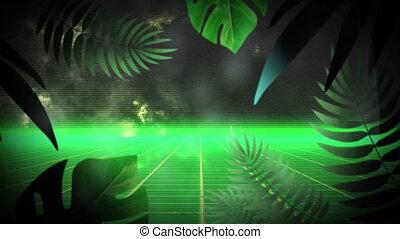 pluie, animation, vert, boucle, gouttes, seamless, incandescent, en mouvement, grille