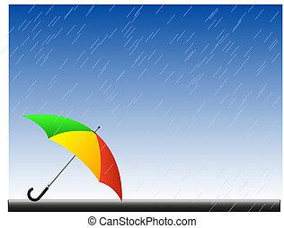 pluie, fond