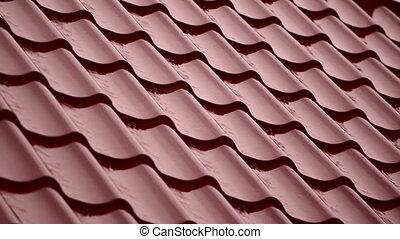pluie, house., toit, hd, rouges