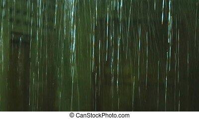 pluie, saison, goutte, pluvieux, barbouillage, lourd, abandon, fond, salle